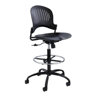 Safco Zippi Black Plastic Extended Height Chair
