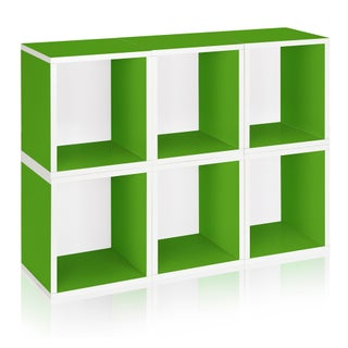 Axel Eco Stackable Modular Storage Cube Bookcase by Way Basics LIFETIME GUARANTEE (Option: green)