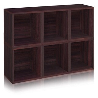 Axel Eco Stackable Modular Storage Cube Bookcase by Way Basics LIFETIME GUARANTEE