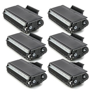 Brother TN580, TN550 Compatible Black Toner Cartridges (Pack of 6)