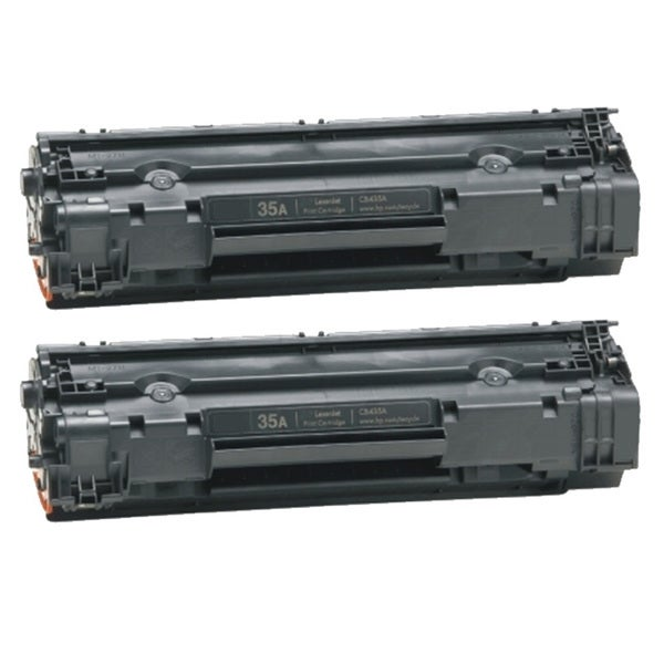 HP CB435A (35A) Black Compatible Laser Toner Cartridge (Pack of 2)
