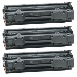 HP CB435A (35A) Black Compatible Laser Toner Cartridge (Pack of 3)