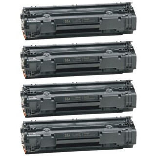 HP CB435A (35A) Black Compatible Laser Toner Cartridge (Pack of 4)