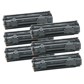 HP CB435A (35A) Black Compatible Laser Toner Cartridge (Pack of 6)
