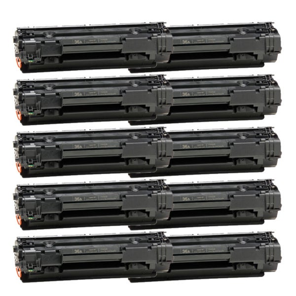 HP CB436A (36A) Black Compatible Laser Toner Cartridge (Pack of 10)
