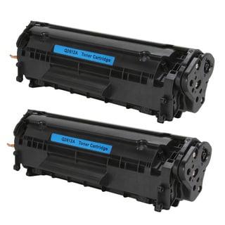 HP Q2612A (12A) Black Compatible Laser Toner Cartridge (Pack of 2)