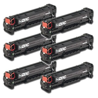 HP CC530A (304A) Black Compatible Laser Toner Cartridge (Pack of 6)