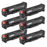 HP CC530A (304A) Black Compatible Laser Toner Cartridge (Pack of 6)