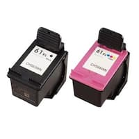 HP 61XL Black/ Color Compatible Ink Cartridge (Pack of 2) - Black