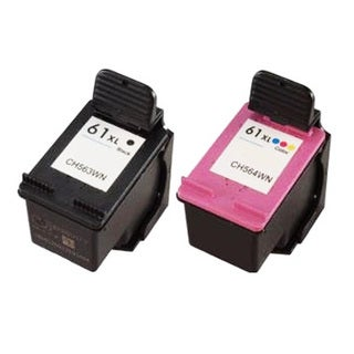 HP 61XL Black/ Color Compatible Ink Cartridge (Pack of 2)