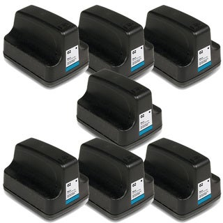 Remanufactured HP 02 C8721WN Black Ink Cartridges (Pack of 7)