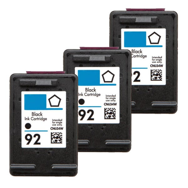 HP 92 (C9362WN) Black Compatible Ink Cartridge (Pack of 3)