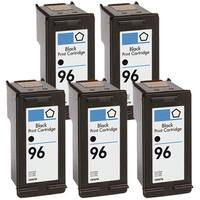 HP 96 (C8767WN) Black High-Yield Compatible Ink Cartridge (Pack of 5)
