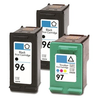 HP 96 (C8767WN) + 97 (C9363WN) Black+Color Compatible Ink Cartridge (Pack of 3)