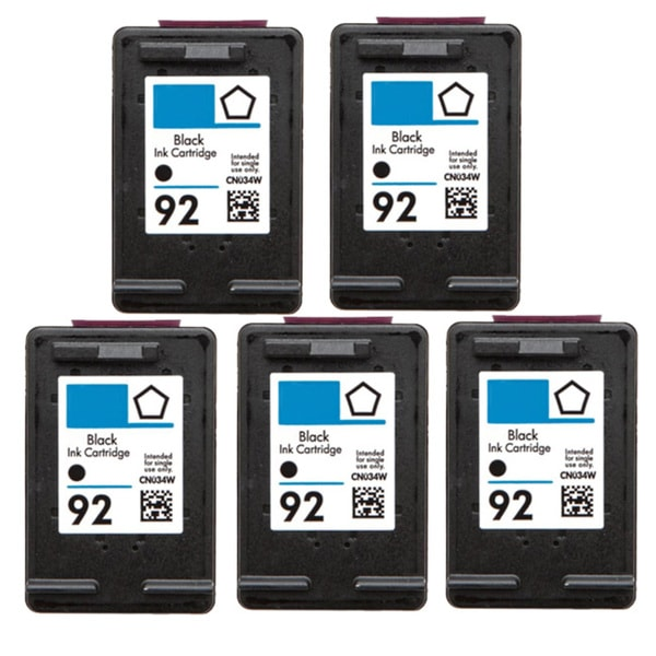 HP 92 (C9362WN) Black Compatible Ink Cartridge (Pack of 5)