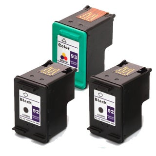 HP 92 (C9362WN) + 93 (C9361WN) Black+Color Compatible Ink Cartridge (Pack of 3)