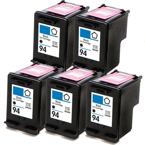 HP 94 (C8765WN) Black Compatible Ink Cartridge (Pack of 5)