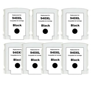 HP 940XL (C4906AN) Black High Yield Compatible Ink Cartridge (Pack of 7)