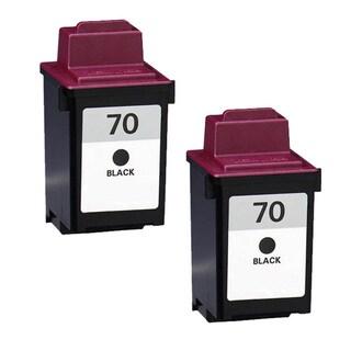 Lexmark 70 Black Compatible Ink Cartridges (Pack of 2)