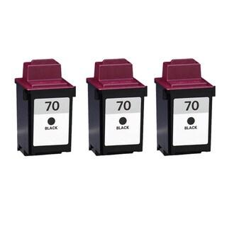 Lexmark 70 Black Compatible Ink Cartridges (Pack of 3)