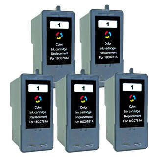 Lexmark 1 Color Compatible Ink Cartridge (Pack of 5)