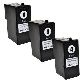 Lexmark #4 (18C1974) Black Compatible Ink Cartridge (Pack of 3)