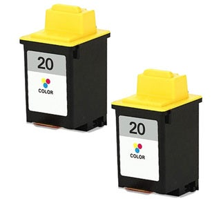 Lexmark #20 (15M0120) Color Compatible Ink Cartridge (Pack of 2)