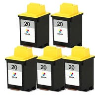Lexmark #20 (15M0120) Color Compatible Ink Cartridge (Pack of 5) - Multi