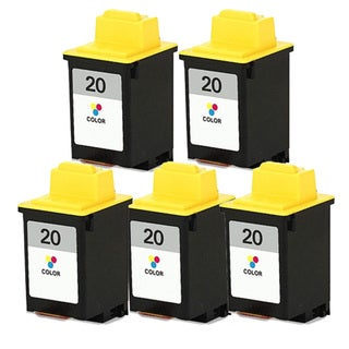 Lexmark #20 (15M0120) Color Compatible Ink Cartridge (Pack of 5)