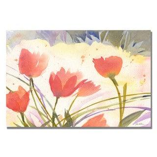 Shelia Golden 'Spring Song' Canvas Art