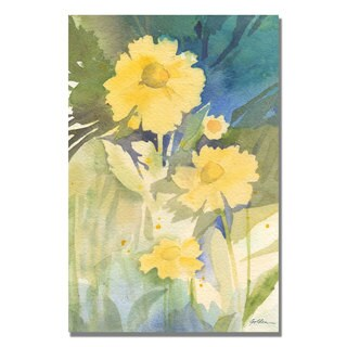 Shelia Golden 'Sunshine Yellow' Canvas Art
