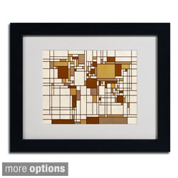 Michael Tompsett 'Mondrian World Map' Framed Matted Art