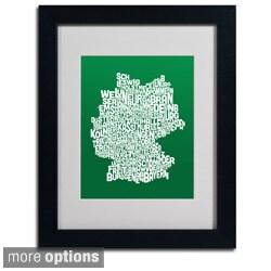 Michael Tompsett 'Forest Germany Region Text Map' Framed Matted Art