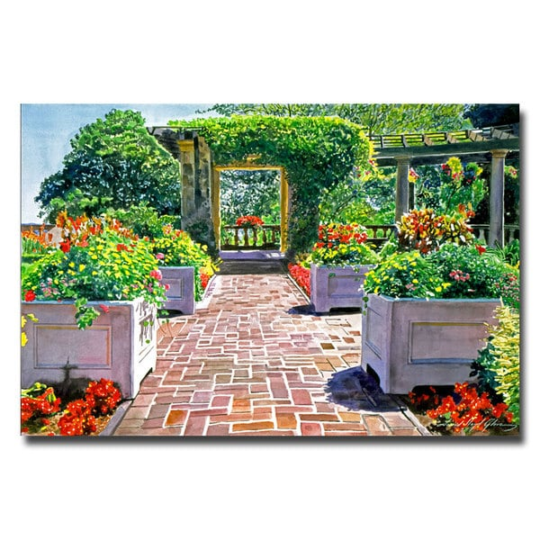Shop David Lloyd Glover \'The Beautiful Italian Garden\' Canvas Art ...
