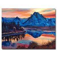 David Lloyd Glover 'Mountain Serenade' Canvas Art