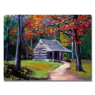 David Lloyd Glover 'Old Cabin' Canvas Art