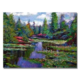 David Lloyd Glover 'Waterlily Lake Reflections' Canvas Art