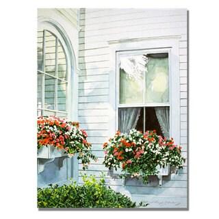 David Lloyd Glover 'Window Boxes' Canvas Art