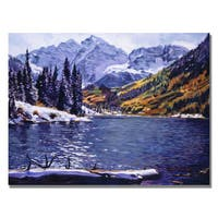 David Lloyd Glover 'Rocky Mountain Solitude' Canvas Art