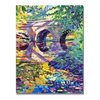 David Lloyd Glover 'Stone Footbridge' Canvas Art