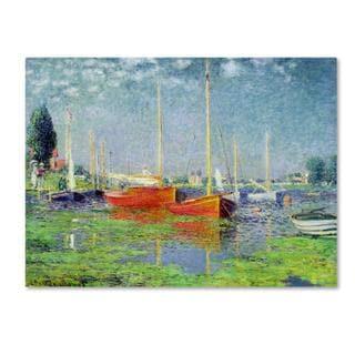 Claude Monet 'Argenteuil' Canvas Art