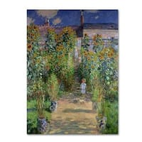 Claude Monet 'The Artist's Garden at Vetheuil' Canvas Art