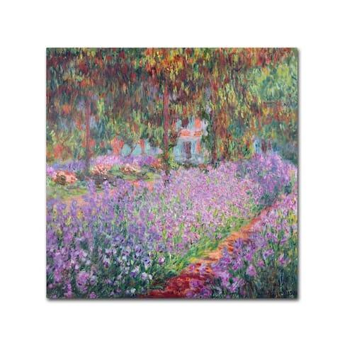 Claude Monet 'The Artist's Garden at Giverny' Canvas Art - Multi