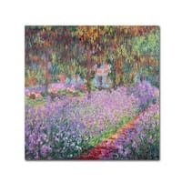 Claude Monet 'The Artist's Garden at Giverny' Canvas Art - Multi