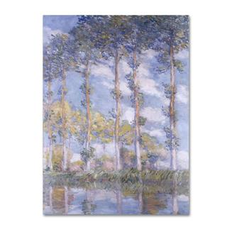 Claude Monet 'The Poplars' Canvas Art
