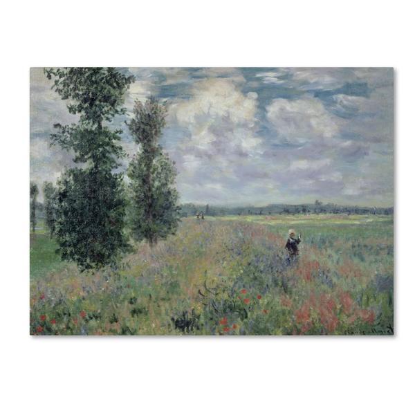 Claude Monet 'The Poppy Field' Canvas Art