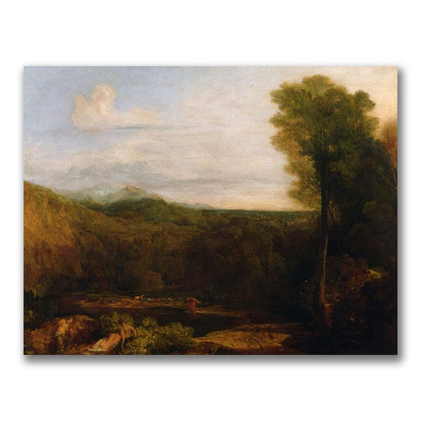 Joseph Turner 'Echo and Narcissus' Canvas Art