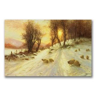 Joseph Farquharson 'Sheep in the Winter' Canvas Art