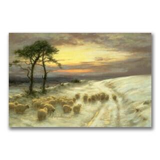 Joseph Farquharson 'Sheep in the Snow' Canvas Art