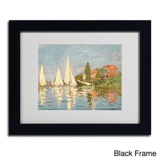 Claude Monet 'Regatta at Argenteuil' Framed Matted Art